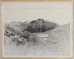 "MRangel, ""Due East from Eagle Scout Pass, the Black Kaweah"", 2008, lithograph"